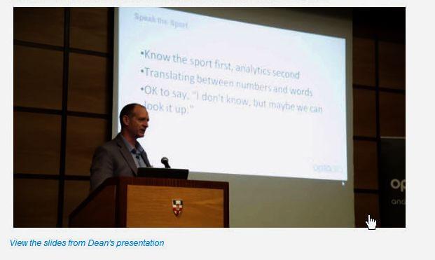 dan oliver - Analytics first, sport second